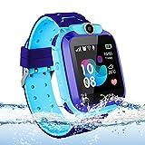 Kinder Smartwatch wasserdichte, Vannico Touchscreen Smart Watch Phone für Kinder Smart Watch Uhr für Jungen und Mädchen mit SOS (S12-Blau)
