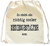 Mister Merchandise Turnbeutel natur Rucksack Mediengestalter , Farbe: Natur