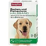 Beaphar - Ungezieferband Hund 65cm lang Farbe grün Schutz vor Zecken Flöhen Abschreckung nach Vorbild der Natur