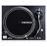 Reloop RP-4000 MK2 - DJ Plattenspieler mit starkem Torque Direktantrieb, Inkl. Plattenteller, OM Black Tonabnehmersystem, Headshell, Slipmat und Gegengewicht,...