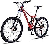 L&WB Downhill Mountain Bike Fahrrad-Aluminiumlegierung Cross-Country Bike Variable Speed Racing 27-Gang 30-Gang-Doppel Stoßdämpfer Weicher...