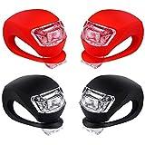 Chizea LED Lampe Set, 2X LED Weißlicht & 2X LED Rotlicht 4 Packs LED Lampe Licht Lampe Silikon