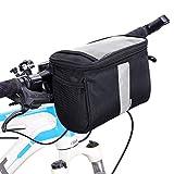 Betuy Fahrrad Lenkertasche Wasserdicht, 3.5L Fahrradtasche Handy Rahmentasche Gepäckträger Tasche mit Reflektierenden Streifen und PVC Touchscreen für...