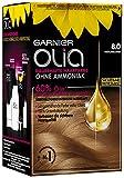 Garnier Olia Haar Coloration Blond 8.0 / Färbung für Haare enthält 60% Blumen-Öle für intensive Farbkraft - Ohne Ammoniak - 3 x 1 Stück