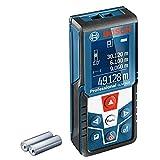 Bosch Professional Laser Entfernungsmesser GLM 500 (Arbeitsbereich: 0,05–50 m, Neigungswinkel: 0–360°, Messgenauigkeit: +/- 1,5 mm, 2 Batterien, AAA, in...