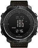2021 Outdoor-Armbanduhr mit Höhenmesser, Barometer, Kompass, Schrittzähler, wasserdicht bis 50 m, Sport-Smartwatch, multifunktional, Militär-Uhr,...