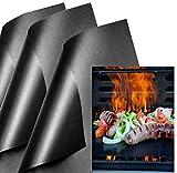 KINLO BBQ Grillmatten Antihaft Backmatte (6er Set) Matte wiederverwendbar Grill für Gasgrill, Holzkohle, Elektrogrill Grillen und Backen PFOA-Frei FDA Teflon...