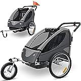 KESSER® Cruiser Kinderanhänger Fahrradanhänger 360° Drehbar mit Federung 2in1 Joggerfunktion Kinderfahrradanhänger + 5-Punkt Sicherheitsgurt , Jogger...