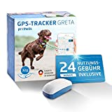 Prothelis Greta Hunde GPS Tracker Mini Peilsender mit App inklusive 24 Monate Nutzungsgebühr | Tracking GPS für Hunde mit Akku Laufzeit bis 5 Tage 32g leicht...