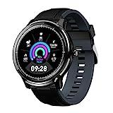 Smartwatch Bluetooth Herren Männer Gokoo IP68 Wasserdicht Fitness Full-Touchscreen Sport mit Schrittzähler Kalorienzähler Informationserinnerung...