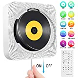 Portable DVD/CD Player, Wall Mountable Bluetooth CD DVD Player HDMI Built-in HiFi Speakers with Remote for TV, Music Player Support FM Radio USB Playing SD Card...