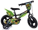 Dinosaurier Kinderfahrrad Dino- Trex Jungenfahrrad | TÜV geprüft | Original | Kinderrad mit Stützrädern - Das Fahrrad als Geschenk für Jungen (12, Zoll)