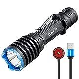 OLIGHT Warrior X Pro LED Taschenlampe 2100 Lumen, 500 Meter Reichweite Leistungsstark mit USB Wiederaufladbarer Superhelle Taktische Lampe IPX8 Wasserdicht,...