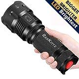 REHKITTZ LED Taschenlampe,Extrem Hell CREE Handlampe für Camping,Ausrüstung,Militär,Outdoor,Zoombarer Einstellbarer Fokus