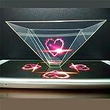 3D Hologramm Projektionspyramide für Handy Smartphone und Tablet