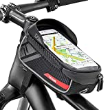 Jooheli Fahrrad Rahmentasche, Wasserdicht Rahmentasche Fahrrad Rahmentasche mit TPU-Touchscreen, wasserdicht handyhalterung für Smartphone unter 6 Zoll und...
