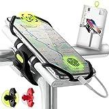Bone Collection 2-in-1 Smartphone sowie Powerbank (Nicht enthalten) Halterung, Face ID kompatibel Fahrrad Handyhalterung für Vorbau 4-6,5 Zoll Smartphones,...
