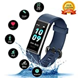 Kungix Ip68 Fitness Tracker with Heart Rate Monitor, Fit Tracker Waterproof Sport Watch for Andorid iPhone, Activity Tracker with Step Counter, Calorie Counter,...