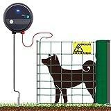 VOSS.farming Hundezaun Komplett-Set, einfacher, sicherer Hunde-Elektrozaun, 50m Hütenetz, praktischer Kleintier-Auslauf, wirksam für den Gartenbereich, Höhe...