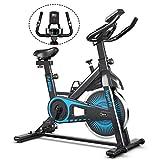 COSTWAY Indoor Fahrrad mit 6KG Schwungrad, Heimtrainer Fahrrad mit einstellbarem Widerstand, höhenverstellbarem Sitz und Lenker, Handyhalterung und...