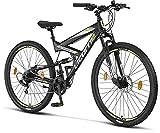 Licorne Bike Strong 2D Premium Mountainbike in 29 Zoll - Fahrrad für Jungen, Mädchen, Damen und Herren - Scheibenbremse vorne und hinten - 21 Gang-Schaltung -...