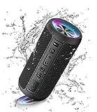 Ortizan Bluetooth Lautsprecher mit Licht, Tragbarer Bluetooth Box mit IPX7 Wasserschutz, Dualen Bass-Treibern, 30h Akku, Freisprechfunktion, Bluetooth...