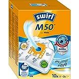 Swirl M 50 MicroPor Plus Staubsaugerbeutel für Miele Staubsauger | Anti-Allergen-Filter | Dauerhaft hohe Saugleistung | 10 Stück inkl. 2 Filter