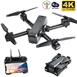 Flashbee F80 Drohne mit 4K Kamera für Erwachsene,Follow Me,WiFi-FPV-Live-Video,Lange Flugzeit, Headless-Modus,große Reichweite,Faltbarer RC-Quadcopter für...