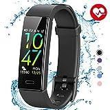JAZIPO Fitness Armband mit Blutdruckmessung Pulsmesser, Fitness Tracker Uhr Wasserdicht IP68 Schrittzähler Uhr Stoppuhr Sport GPS Aktivitätstracker...