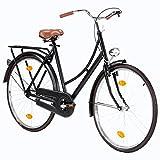 Fahrrad Citybike 28 Zoll Dutch Bike Hollandrad CTB Vintage Damenfahrrad Jungenfahrrad Singlespeed Fahrrad mit Frontlicht Retro City Bike Cityrad Cityfahrrad...