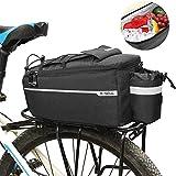 Fahrradtasche Fahrrad Gepäckträgertasche Isoliertasche, Multifunktionale Stammkühltasche Fahrrad Gepäckträger Radfahren Gepäcktasche Reflektierende MTB...