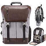TARION Kamerarucksack Wasserdicht Fotorucksack Spiegelreflex Kameratasch Zertifizierte Schutzklasse: IPX5 Wasserdicht Kamera Rucksack mit Regenhaube für Damen...