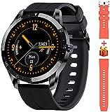 Blackview X1 Smartwatch Herren, Smart Armbanduhr Herren Fitness Tracker Smart Watch Rund 5ATM Wasserdicht Fitnessuhr Herren mit Pulsuhr Schrittzähler Damen...