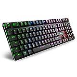 Sharkoon PureWriter RGB Mechanische Low Profile-Tastatur (RGB Beleuchtung, blaue Schalter, flache Tasten, Beleuchtungseffekte, abnehmbarem USB Kabel) Blau...