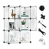 Greenstell Regalsystem mit Tür, Multifunktionsschrank mit 6 Würfeln, DIY Regal zur Aufbewahrung von Büchern, Kleidung, Spielzeug, Kunst, Dekorationen, Schuhe