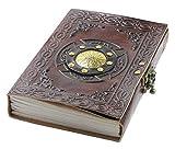 Notizbuch A5 Leder Travel Journal - Handgemachtes Geprägte Zauberbuch Schreiben Tagebuch mit Schloss für Männer und Frauen - Reisetagebuch Zum...