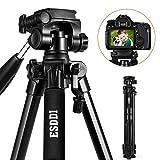 ESDDI 170cm/67inches Kamera Stativ Aluminiumlegierung Stativ Kompakt Leichtes Stativ für Smartphone DSLR SLR Canon Nikon Sony Olympus mit Handy Halterung...