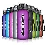 ALPHAPACE Trinkflasche, auslaufsichere 1.500 ml Wasserflasche, BPA-freie Flasche für Sport, Fahrrad & Outdooraktivitäten, Sportflasche mit Fruchteinsatz, in...