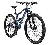 BIKESTAR Fully Aluminium Mountainbike Shimano 21 Gang Schaltung, Scheibenbremse 29 Zoll Reifen | 17.5 Zoll Rahmen Alu MTB Vollgefedert | Blau