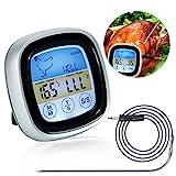 Fleischthermometer Digital, Grillthermometer, Meater Fleischthermometer, Bratenthermometer, Ofenthermometer mit Küchentimer Funktion für BBQ, Ofen, Grills,...