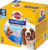 Pedigree DentaStix Daily Oral Care Zahnpflegesnack für mittelgroße Hunde – Hundeleckerli mit Huhn- & Rindgeschmack für jeden Tag – 1 x 56 Stück