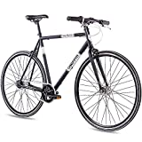 CHRISSON 28 Zoll Retro Rennrad Vintage Bike - Vintage Road N7 schwarz 59 cm mit 7 Gang Shimano Nexus Nabenschaltung, Urban Old School Fahrrad für Damen und...