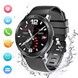 Smartwatch, Activity Tracker, Support Calling, Herzfrequenzmesser, Blutdruck- / Musik-Player, Remote Shot/Stoppuhr/Anti-Lost Kompatibel mit Android und...