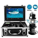 Unterwasser-Angelkamera, 360 ° Drehung Fish Finder-Videokamera mit DVR-Recorder, Wasserdichtem IP68 Marine Life System und 9-Zoll-Farbmonitor 1000HD TVL mit 20...
