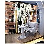 WKJHDFGB Vorhang Verdunkelung,3D Vorhänge Kreative Buchwand 3D Fenster Vorhänge Für Wohnzimmer Luxuriöse Vorhänge Weiße 3D Europäische Vorhänge...