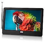 Tragbarer Mini Fernseher - August DA900D - 9 Zoll mit Akku - Portabler hochauflösender LCD TV mit DVB-T2 HD Tuner / EPG / Aufnahmefunktion (PVR) /...