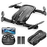 Potensic Faltbare Drohne mit Kamera, 1080P Mini Drohne WiFi FPV Quadrocopter mit Optischem Fluss und Zwei Batterien, Höhe Halten, Antikollisions RC Drohne für...