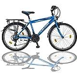 24 Zoll Jungen Fahrrad 21-Gang MIT Beleuchtung Farbe BLAU TMX