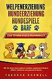 WELPENERZIEHUNG | HUNDEERZIEHUNG | HUNDESPIELE | BARF - Das Große 4 in 1 Hundebuch: Wie Sie Ihren Hund optimal erziehen, spielerisch fördern, effektiv...
