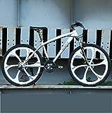 NANXCYR 26 Zoll Mountainbikes Fahrräder, High-Carbon Stahl Hardtail Mountainbike, Berg Fahrrad mit Federung vorne Verstellbarer Sitz für Herren und...
